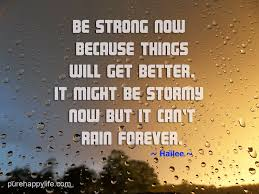 Things Will Get Better Quotes Enchanting Life Quote Be Strong Now Because Things Will Get Better