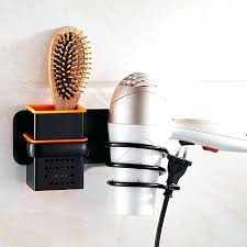hair appliance holder wall mount bathroom organizer hair dryer holder wall mounted rack space save shelf