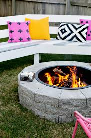 diy fireplace ideas diy firepit in 4 easy steps do it yourself firepit projects