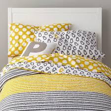 Kids Bedding: Grey Yellow Peep Bedding | The Land of Nod & Not a Peep Kids Bedding Adamdwight.com