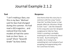 Reading Response Journals - ppt download