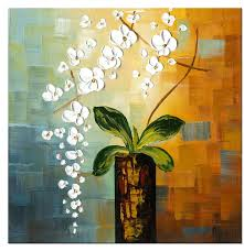 beauty of life modern canvas art wall decor fl oil painting wall art stretched