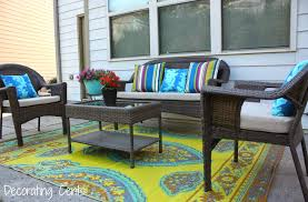 i had already been looking at the outdoor rugs and pillows at world market i knew that whenever we did get new furniture that was the place i was going