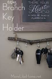 Key Racks For Home More Like Home Easy Diy Branch Key Holder