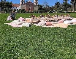 mission rose garden lawn santa