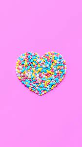Cute Love Heart Candy Wallpaper HD ...