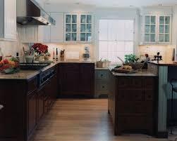 Kitchen With Dark Floors Cherry Kitchen Cabinets With Dark Floors Genuine Home Design