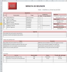La Minuta Ejemplos Y Formatos Excel Word Y Pdfs