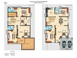 4 bedroom house plans indian style 3d lovely duplex house plans for 60 40 site