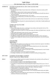 Lead Teacher Resume Lead Teacher Resume Samples Velvet Jobs 1