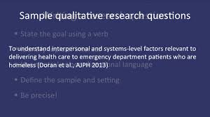 Research Problem Statement Examples Fundamentals Of Qualitative Research Methods Developing A