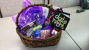 wedding shower prize gift basket ideas