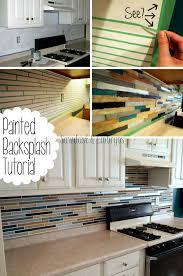 PAINT Your Backsplash To Look Like Custom Tile! {Sawdust U0026 Embryos}