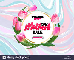 Mother's Day Sale Offer Banner Template. Round Frame With Lettering ...
