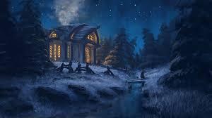 Winter Night Wallpaper - KoLPaPer ...