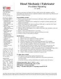 Mechanic Resume Template Free Cv Template For Mechanic New Mechanic Resume Template 24