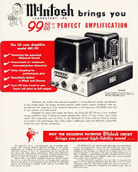mcintosh mc30 rebuild and restoration meanwhile please enjoy this ad from the early fifties for the mc30