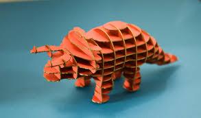 cardboard dinosaur learn how to make 3d object work