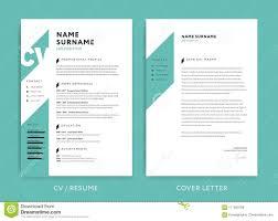 Creative Cv Template Green Color Background Stock Vector