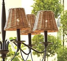 pottery barn chandelier shades woven wicker chandelier shade set of 3 pottery barn burlap chandelier shade