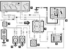 peugeot 405 wiring diagram starting and charging system