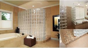 glass block shower designs