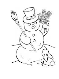 Small Picture Coloring Pages Free Printable Snowman Coloring Pages For Kids