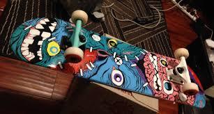 Skateboards Designs Five Amazing Horror Themed Skateboards Popcorn Horror