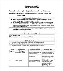 sample lesson plan outline daily lesson plan template 9 free word excel pdf format