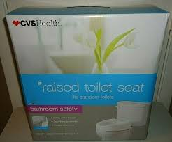 cvs health raised toilet seat fits