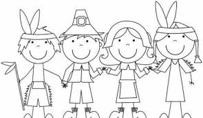 Small Picture Pilgrim And Indian Coloring Pages Thanksgiving wwwkanjireactorcom