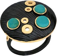 Серебряное <b>кольцо Балтийское золото 71751338-bz</b> c бирюзой ...