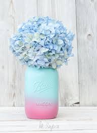 diy mason jar vases ombre painted mason jar best vase projects and ideas for
