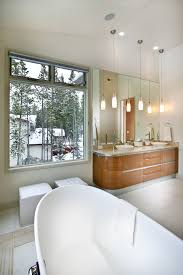 modern bathroom pendant lighting. Bathroom Pendant Lighting Contemporary With Cherry Cabinets Clerestory Windows. Image By: New Mood Design LLC Modern