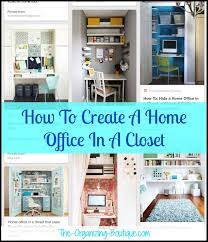 office in a closet. Innovative Ideas Home Office Closet In A