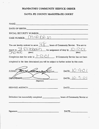 Community Service Form For Court Sample Hours Flexible Or ...