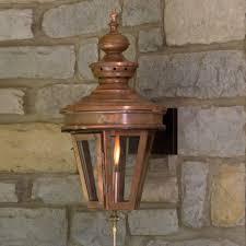 copper outdoor lighting. averbach wall-mount gas lantern - 23\ copper outdoor lighting