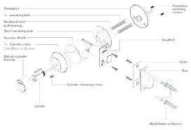 Schlage Door Handle Parts Door Knob Parts Door Knob Latch Assembly