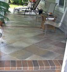 ideas for concrete patio backyard stamped concrete patterns