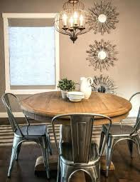 wood and metal round dining table chairs