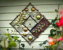 garden wall plaques wrought iron outdoor wall decor style basement mattress with regard to plaques design garden wall plaques