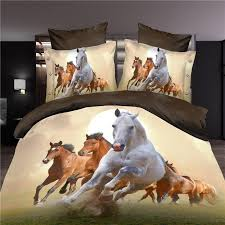 whole 3d horse bedding set duvet doona cover bed sheet pillow cases queen size velvety bedclothes bedding sets full comforter queen sets from goodwork
