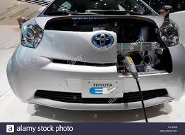 Close up of Toyota EV plug-in electric car at the Geneva Motor ...
