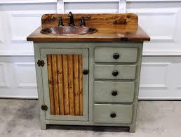 bathroom vanity 36 rustic farmhouse bathroom vanity sage green bathroom vanity w drawers rustic bathroom vanity copper sink