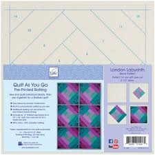 Quilt As You Go Printed Quilt Blocks On Batting Paris On Point ... & Quilt As You Go Printed Quilt Blocks On Batting London Labyrinth Adamdwight.com