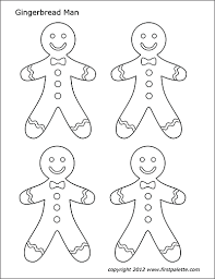 Gingerbread Man Free Printable Templates Coloring Pages