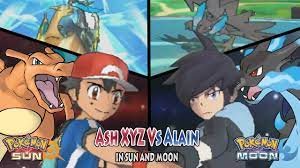 Pokemon Sun and Moon: Kalos Ash Vs Alain (Ash Charizard Vs Mega-Charizard  X) - YouTube