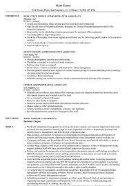 Office Assistant Duties On Resume Office Administrative Assistant Resume Samples Velvet Jobs
