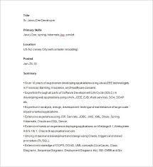 Java Developer Resume Template 14 Free Samples Examples