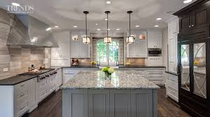 Kitchen Designs With 2 Islands Large Transitional Kitchen Design Has Two Islands And A Mix Of White Taupe And Dark Colors